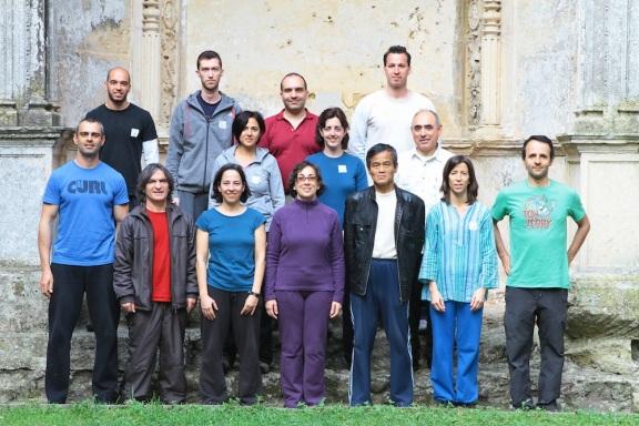 Foto de grupo, antiga Sala do Capítulo, Convento de Cristo, Tomar, 2012
