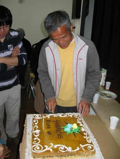 O bolo de aniversário